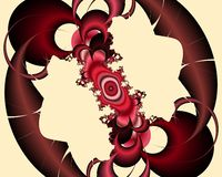 Phosphorescent red pink fractal, flowery elegant sparkling contrasts lights, texture, abstract background. Phosphorescent red pink contrasts flowery sparkling vector illustration