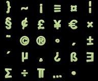 Phosphorescent symbols Stock Photography