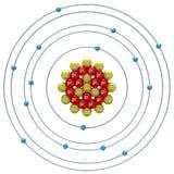 Phosphorus atom on a white background Royalty Free Stock Photography