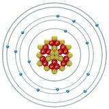Phosphorus(isotope) atom on a white background Royalty Free Stock Photo