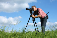 Photgrapher del hombre fotografía de archivo libre de regalías