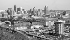 Photgraphy-Cincincnnati de ville de Covington Kentucky Photographie stock libre de droits