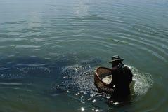 Photharam-Fluss-Leben-Leute Lizenzfreies Stockbild