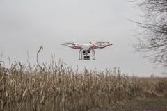 Photo éditoriale d'un bourdon fantôme de DJI en vol avec une édition montée de noir de GoPro Hero3 Photo stock