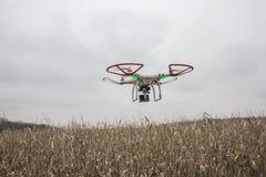 Photo éditoriale d'un bourdon fantôme de DJI en vol avec une édition montée de noir de GoPro Hero3 Images libres de droits