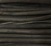 Photo élevée de définition de crayons de charbon de bois Images libres de droits