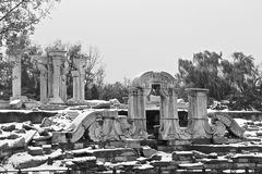 Yuanming Yuan Ruins Park and Witness Of Aggression Royalty Free Stock Photography