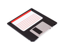 Photo of 3.5 old diskette on white Stock Photo