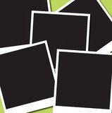 Photo 5. A collection of 5 photo place holders on a green background Royalty Free Stock Image