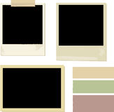 Photo. Frame and vector illustration Stock Image