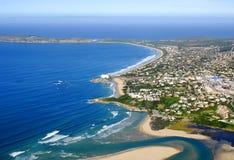 Photo aérienne de baie de Plettenberg dans l'itinéraire de jardin Photos libres de droits