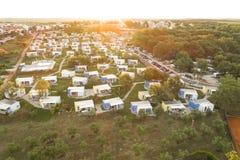 Photo aérienne de camper près du novigrad, istria Photo stock