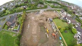 Photo aérienne de chantier Photo stock