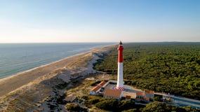 Photo aérienne de La Coubre de phare photographie stock libre de droits