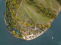 Photo aérienne de paysage Photographie stock libre de droits