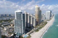 Photo aérienne de Sunny Isles Beach Photographie stock libre de droits