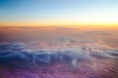 Photo aérienne des nuages Image libre de droits