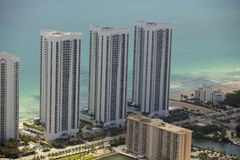 Photo aérienne Sunny Isles Florida Photographie stock