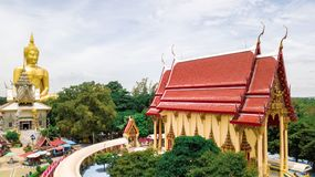 Photo aérienne Wat Muang Ang Thong Thailand Photo libre de droits
