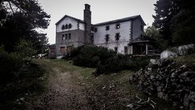 Photo of an Abandoned Concrete House Royalty Free Stock Photography