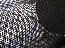 Abstract black and white mesh royalty free stock image