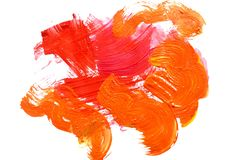 A photo of an abstract gouache painting.  stock illustration