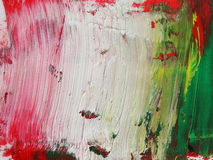 Photo abstract red white green grunge brush strokes oil paint background Royalty Free Stock Images