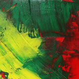 Photo abstract yellow green red grunge brush strokes oil paint background Stock Photography
