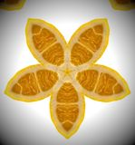 Photo abstraite d'orange de mandala Image libre de droits