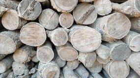 Photo abstraite d'une pile de fond en bois naturel de rondins photo stock