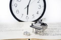 Photo abstraite de la musique Musique de jazz de piano Photographie stock libre de droits
