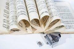 Photo abstraite de la musique Musique de jazz de piano Photos stock