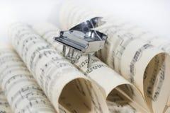 Photo abstraite de la musique Musique de jazz de piano Images stock
