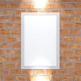 Photo accrochant sur un mur de briques, pièce Décorez un mur illustration de vecteur