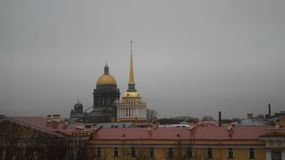 Photo Admiralty building and St. Isaac`s Cathedral. From the Hermitage stock photography