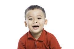 Photo of adorable young happy asian boy looking at camera Royalty Free Stock Photos