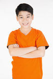 Photo of adorable young happy asian boy looking at camera Stock Photography
