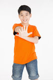 Photo of adorable young happy asian boy looking at camera Royalty Free Stock Image