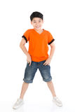 Photo of adorable young happy asian boy looking at camera Royalty Free Stock Photography