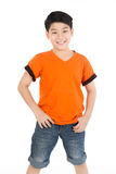 Photo of adorable young happy asian boy looking at camera Stock Photos