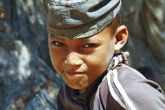 Photo of adorable young happy boy - african poor child Stock Images