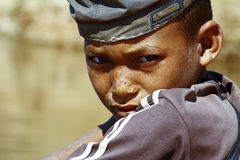 Photo of adorable young happy boy - african poor child Stock Photo