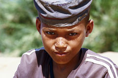 Photo of adorable young happy boy - african poor child Stock Photography