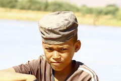 Photo of adorable young happy boy - african poor child Stock Image