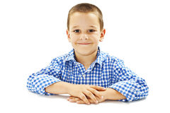 Photo of adorable young happy boy looking at camera Royalty Free Stock Photos