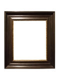 Photo of aged dark wooden picture frame Stock Photography