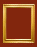 Photo of aged golden picture frame Stock Photo