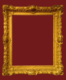 Photo of aged golden picture frame Stock Photos