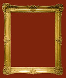 Photo of aged golden picture frame Royalty Free Stock Image