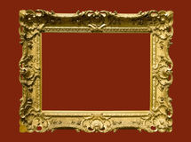 Photo of aged golden picture frame Royalty Free Stock Photo